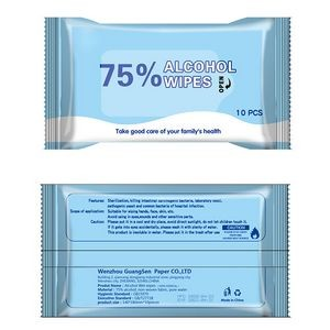 10 Pieces 75% Alcohol Sanitizer Wipes
